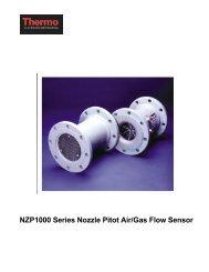 NZP1000 Series Nozzle Pitot Air/Gas Flow Sensor