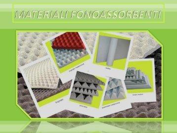 catalogo materiali fonoassorbenti.pdf - TrovaVetrine.it
