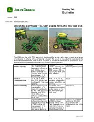 CHOOSING BETWEEN THE JOHN DEERE 1690 AND THE 1690 CCS