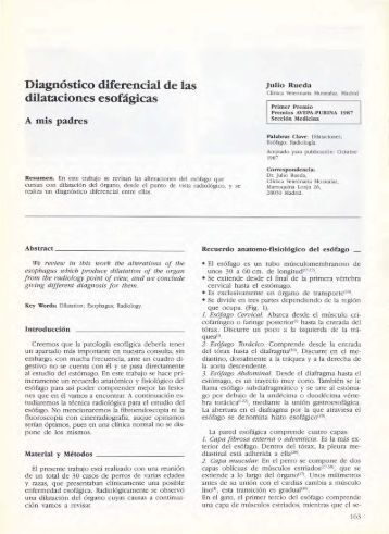Diagnóstico diferencial de las dilataciones esofágicas