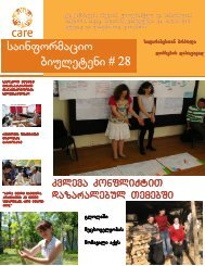 newsletter 28-GE.indd - CARE International in the Caucasus