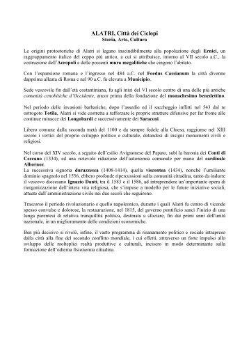ALATRI, Città dei Ciclopi - Comune di Alatri