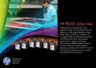 HP FB225 Scitex Inks