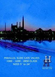 PARALLEL SLIDE GATE VALVES 1000 - 1690 - 2850 CLASS ...