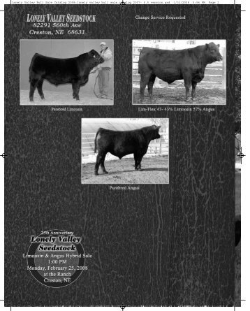 Lonely Valley Bull Sale Catalog 2008:lonely valley bull sale catalog ...