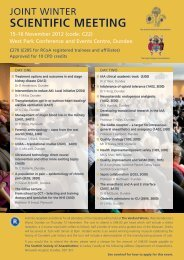 scientific meeting - The Royal College of Anaesthetists