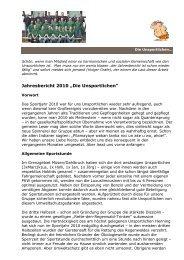 """Jahresbericht 2010 """"Die Unsportlichen"""""""