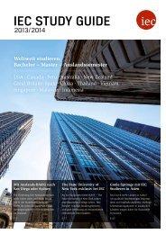 IEC Study Guide 2013/2014 - Studienführer fürs Auslandsstudium