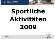 Sportrückblick 2009