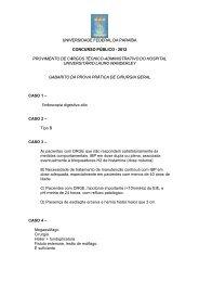 cirurgia geral - Universidade Federal da Paraíba