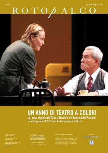 R O T O  p A L C O - produzioni ert - Emilia Romagna Teatro