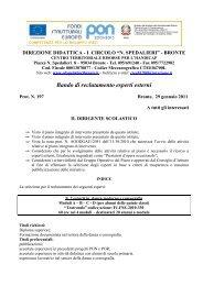 Bando PON reclutamento esperti esterni 2010-2011 - Circolo ...