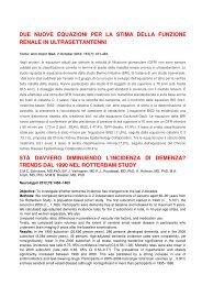 due nuove equazioni per la stima della funzione renale in ...