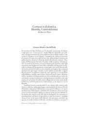 Saverio Ricci Censura ecclesiastica, filosofia ... - Sapienza