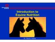 Intro to Equine Nutrition - UT Extension