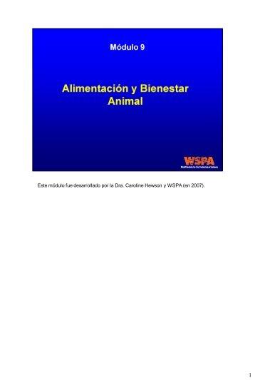 Alimentación y bienestar animal - Sociedad Mundial para la ...