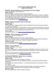 LE NOTTI DELL'ARCHEOLOGIA 2008 MUSEI PARTECIPANTI ...