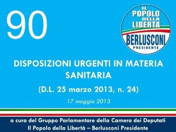 esame in commissione - Gruppo PDL – Berlusconi Presidente