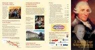 Herzliche Einladung zu den 3. Haydn-Tagen Schloss Rohrau!