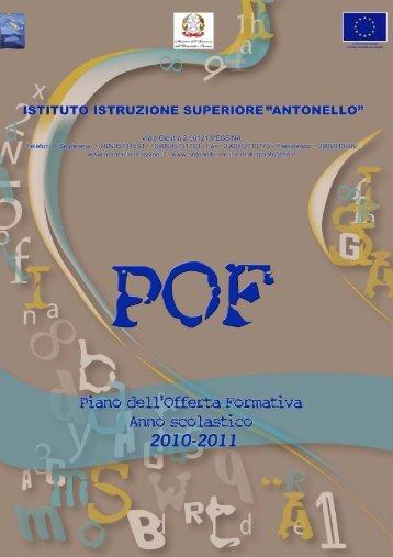 P.O.F a.s. 2010/11 - Istituto Antonello