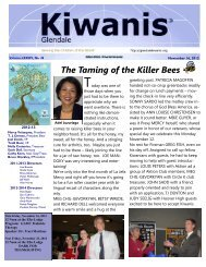 The Taming of the Killer Bees - KiwanisOne.org