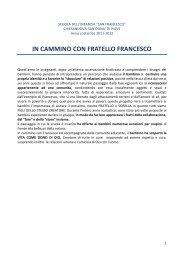 IN CAMMINO CON FRATELLO FRANCESCO - Formazione ...