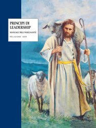 principi di leadership manuale dell'insegnante - The Church of
