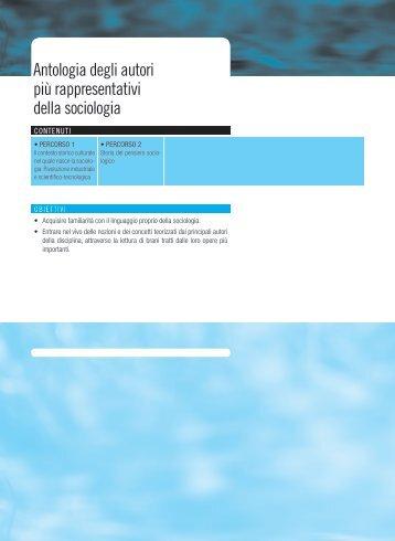 Antologia degli autori più rappresentativi della sociologia