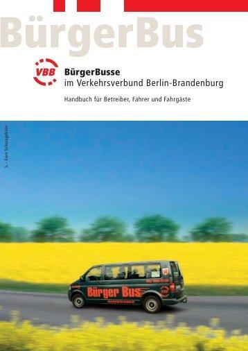 BürgerBus Handbuch - Bürgerbusse in Brandenburg