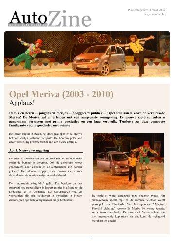Autozine - Opel Meriva (2003 - 2010) - Autozine.eu