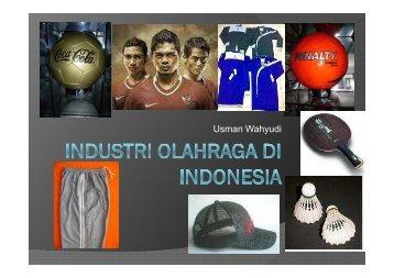 4. Industri olahraga di Indonesia - MB IPB
