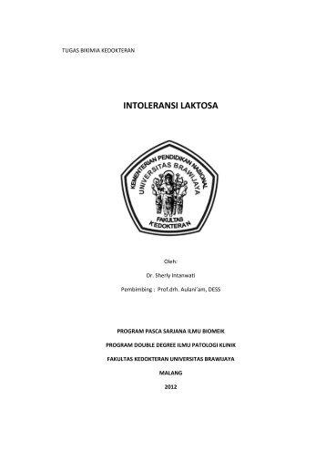 intoleransi laktosa - Prof. Dr. Aulanni'am, DVM., DES. - Universitas ...