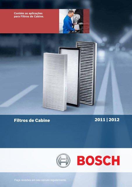 Catálogo Filtros de Cabine 2011   2012 - Bosch