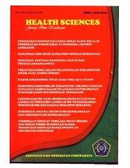 HEALTH SCIENCES (FEBRUARI 2010).pdf - Universitas ...