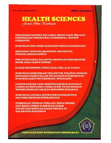 HEALTH SCIENCES (FEBRUARI 2010).pdf - Universitas ...