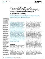 Efficacy and Safety of Meriva®, a Curcumin-phosphatidylcholine ...
