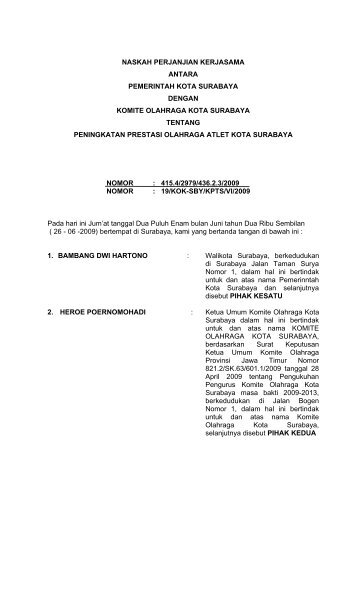 Contoh Perjanjian Kerjasama Lisensi
