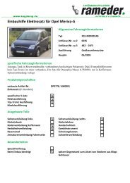 Einbauhilfe Elektrosatz für Opel Meriva-A