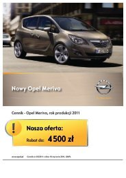 Cennik - Opel Meriva, rok produkcji 2011 - POL-MOT Auto