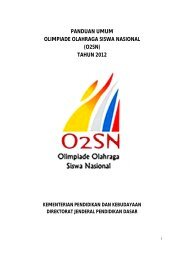 panduan umum olimpiade olahraga siswa nasional (o2sn) tahun 2012