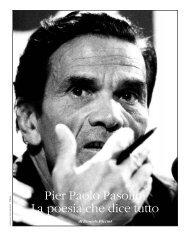 Pier Paolo Pasolini, La poesia che dice tutto– n. 199, novembre 2005