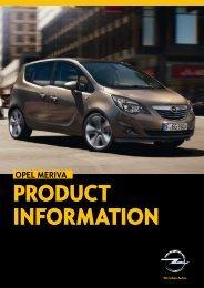 Download Opel Meriva Specs (4583kb PDF) - Reeds Motor Group
