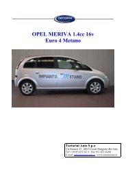 OPEL MERIVA 1.4cc 16v Euro 4 Metano Tartarini Auto Spa