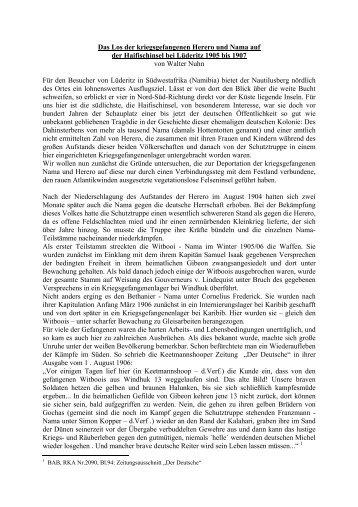 KZ Haifischinsel/Lüderitz - Arbeit und Leben (DGB/VHS) Hochtaunus