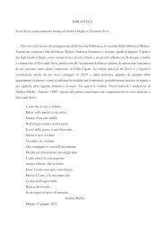 BIBLIOTECA Su un breve componimento inedito di Andrea Maffei a ...