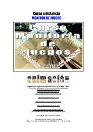 Curso a distancia MONITOR DE JUEGOS