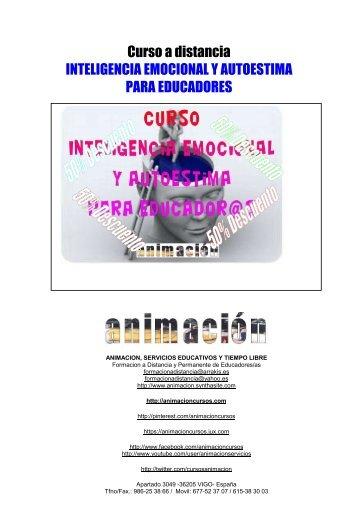 Curso a distancia INTELIGENCIA EMOCIONAL Y AUTOESTIMA PARA EDUCADORES