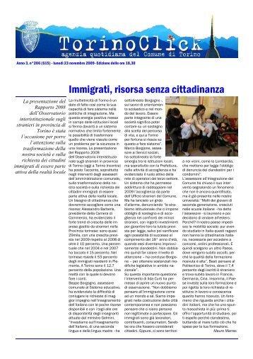 Immigrati, risorsa senza cittadinanza - Città di Torino