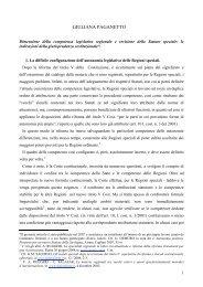Dimensione della competenza legislativa regionale e revisione dello