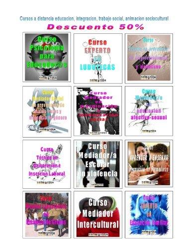 Descuentos cursos trabajo social, animacion, integracion